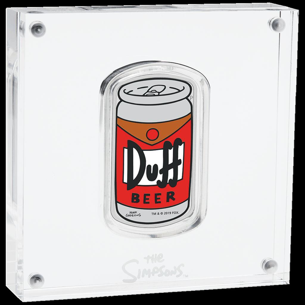 Tuvalu - 1 Dollar 2019 - Duff Beer™ - Die Simpsons™ - 1 Oz Silber PP 5