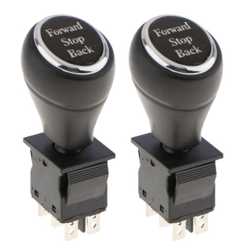 2PCS Joystick Switch Replacement Push Rod Switch Forward Stop Back 6-Pin 10
