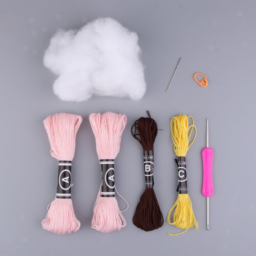 Crotchet Kit gefüllte Puppen machen Stricken Basteln DIY Geschenke für
