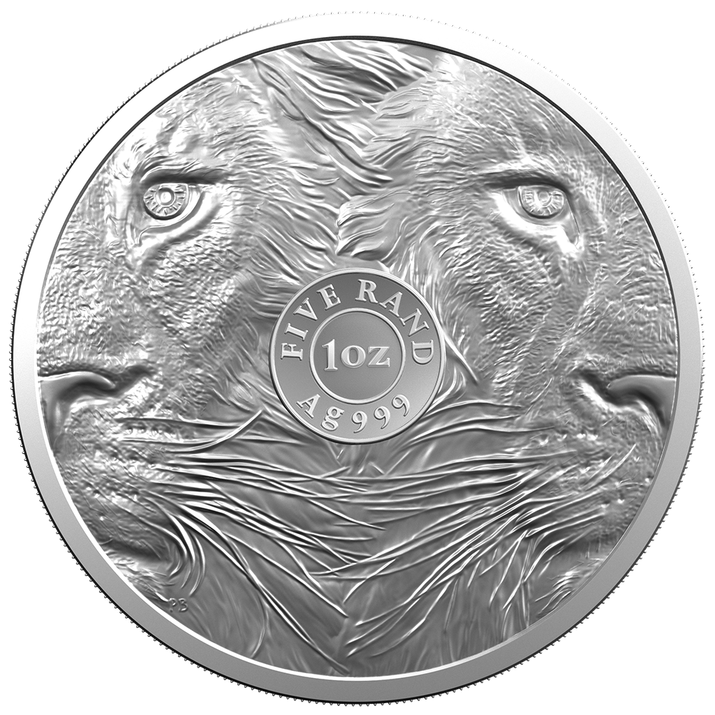Südafrika - 5 Rand 2019 - Big Five Serie (2.) - Löwe - 1 Oz Silber ST 3