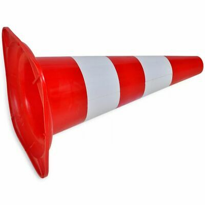 vidaXL 10x Reflective Traffic Cones Red and White 50cm Parking Safety Road 4