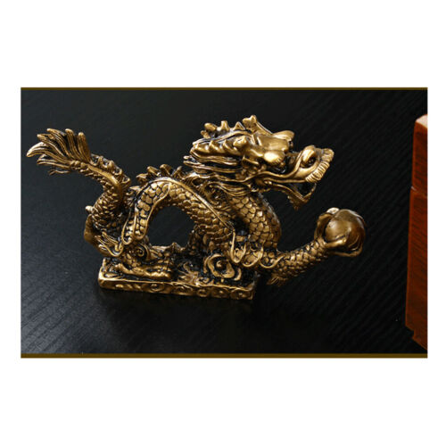1 Piece Chinese Feng Shui Dragon Bronze Figurine Statue Luck & Success Gifts 11