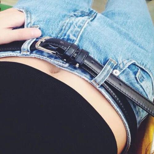 Black Fashion Women Belts Leather Metal Pin Buckle Waist Belt Waistband 110cm