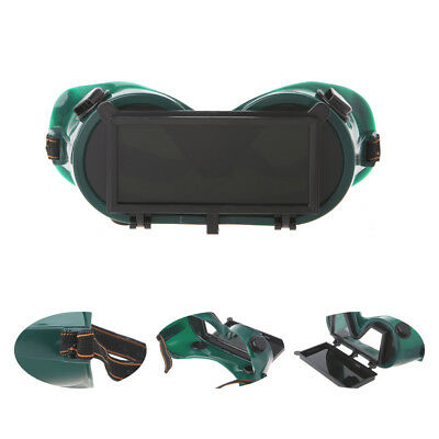 1PC PVCWelding Goggles With Flip up Darken Cutting Grinding Safety Glasses Green