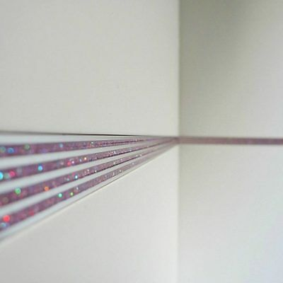 2 Of 6 3 Pack Tile Border Strips Trim Striped Glitter Finish Metal Trims Borders