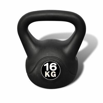 Pesa Rusa de 16 Kilos Negra Kettlebell Musculación Fitness Ejercicio Nuevo 2