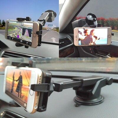 360 Rotatable Car Windscreen Suction Cup Mount Mobile Phone Holder Bracket Stand 9