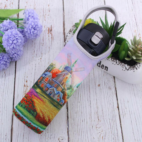Sports 600ml Water Bottle Holder Sleeve Insulated Cover Carrier Windmill 2