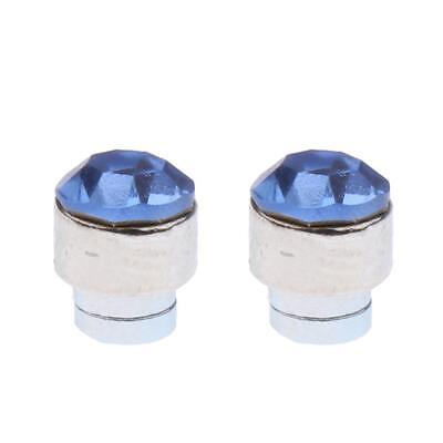 2pc Magnetic Crystal Round Earrings Non Piercing Clip On Men Kids Ear Magnet 8