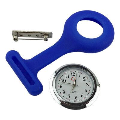 Silicone Nurse Watch Brooch Tunic Fob  Nursing Clip Pendant Pocket  Battery 3