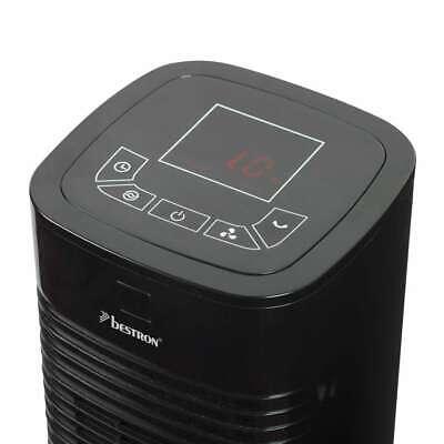 Bestron Ventilateur Tour avec Télécommande 80 cm Noir Ventilateur de Bureau 8