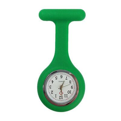Silicone Nurse Watch Brooch Tunic Fob  Nursing Clip Pendant Pocket  Battery 8