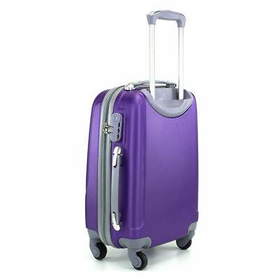 Juego de 3 maletas rigidas lisas de 4 ruedas giratoria 360 maleta equipaje viaje 9