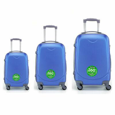Juego de 3 maletas rigidas lisas de 4 ruedas giratoria 360 maleta equipaje viaje 2