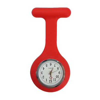 Silicone Nurse Watch Brooch Tunic Fob  Nursing Clip Pendant Pocket  Battery 10