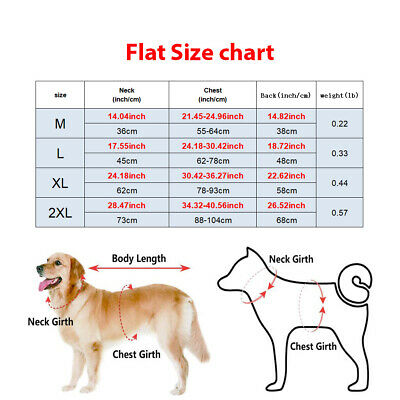 US Waterproof Clothes Winter Warm Pet Dog For Small Medium Large Dog Coat Jacket 6