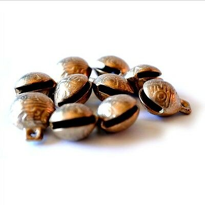 TIBETAN BRASS BELLS LOT of 10 16mm Bead Craft Temple Herding Small Metal Ethnic 8