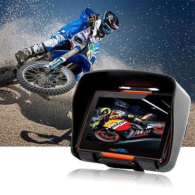 BT Motorcycle GPS Navigator Motobike Car SAT NAV Waterproof Bluetooth 8GB EU Map
