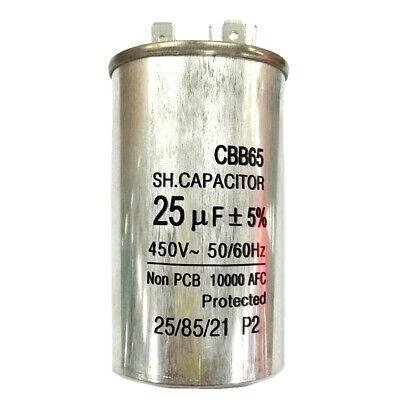 450V25UF Motor Run Capacitor Home Air Conditioner Start Run Capacitor CBB65 2