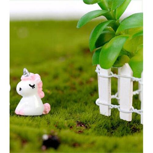 der 30tlg rosa Mini Dekofigur Tierfigur Einhorn Gartendeko Micro Landschaft