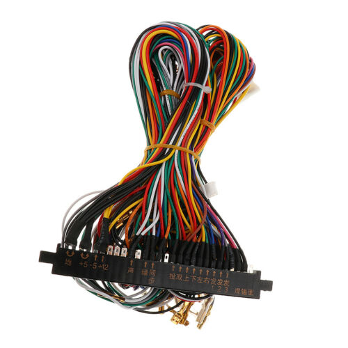 ARCADE JAMMA CABINET Wire Wiring Harness Loom Arcade PCB ... on electric harness for loom, warping a 4 harness loom, wiring loom sleeve,