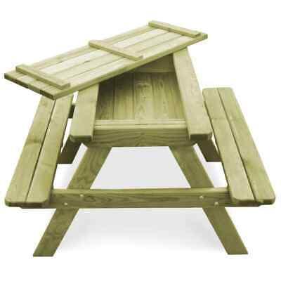 vidaXL Table Pique-nique Banc Bois de Pin Imprégné FSC Jardin Patio Terrasse 5