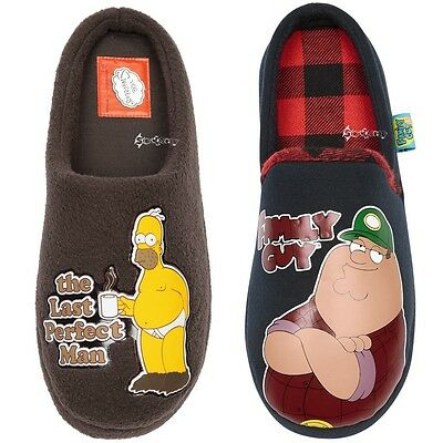 18c370668e066 ... Mens Homer Simpson   Family Guy Mule Slippers Shoe Sizes 7-12 Dad  Father Gift