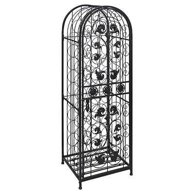 Elegant Metal Wine Home Bar Cabinet Storage Rack Floor Stand - Holds 45 Bottles 3
