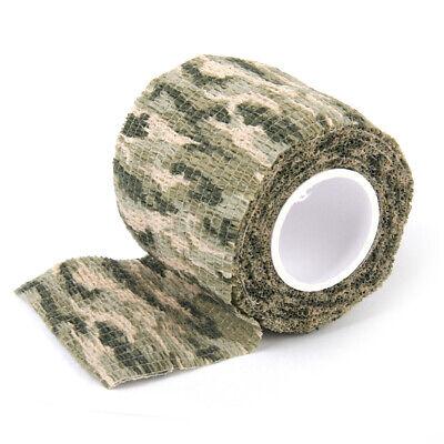 NON-WOVEN CLOTH Camo Stealth Tape Wrap Camouflage Gun Rifle Hunting 4.5mX5cm