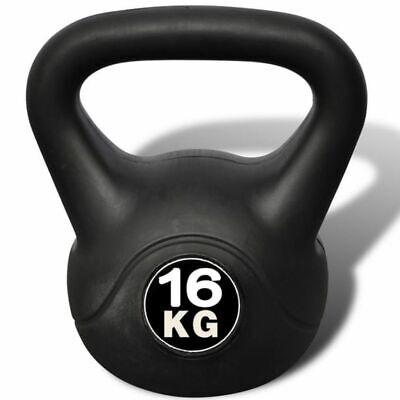 Pesa Rusa de 16 Kilos Negra Kettlebell Musculación Fitness Ejercicio Nuevo 5