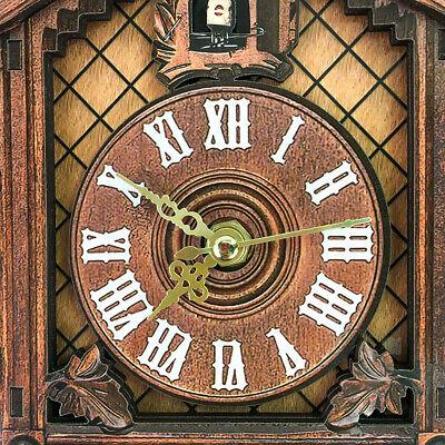 European Vintage Cuckoo Clock w/ Pendulum Hand-carved Wood Wall Clock Room Decor 4