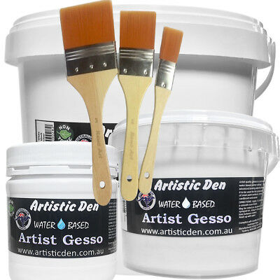 Artist White Gesso White Gesso Primer Canvas Gesso 250ml-5L Canvas Primer Craft