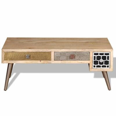 Vidaxl Coffee Table Side End Living Room Table With Drawers