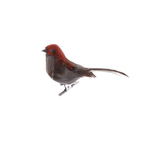 Schaum Vogel Dekofigur Wanddeko Figur Ornament Mit Clips Zufällige Farbe