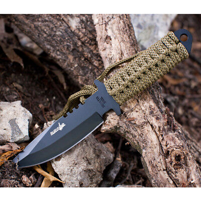 """7.5"""" TACTICAL COMBAT HUNTING FIXED BLADE BOWIE KNIFE Throwing Survival Military 5"""