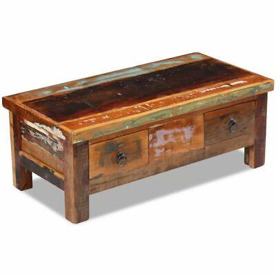 vidaXL Massivholz Couchtisch Beistelltisch Wohnzimmer Sofa Kaffee Tisch Antik 2