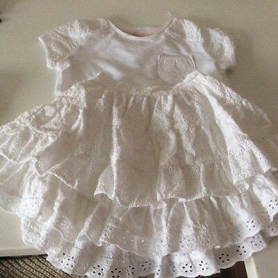 Girls white skirt and top set - age 3-4 4
