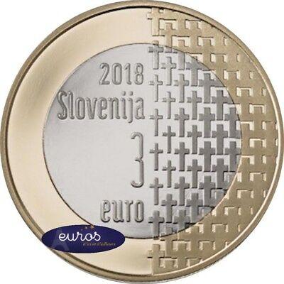 Pièce 3 euros SLOVENIE 2018 - 100ème anniversaire de la fin de la Guerre 14 - 18 2