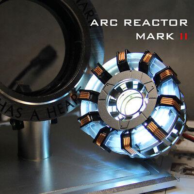 DIY Master Grade Iron Man MK2 Arc Reactor Display Box Stand Base Glass Case USB 5