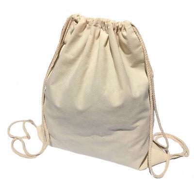 50 Lot Cotton Natural White Drawstring Backpack Tote Sack Bag Wholesale Lot
