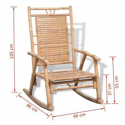 Sedia A Dondolo Per Esterno.Vidaxl Sedia A Dondolo Da Esterno Giardino In Bamboo Relax Poltrona Oscillante