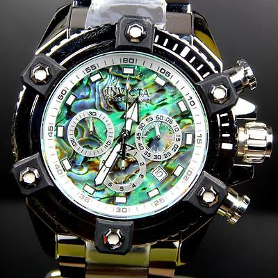 Invicta Reserve Grand Arsenal Octane Abalone Silver Full Size 63mm Watch New 7