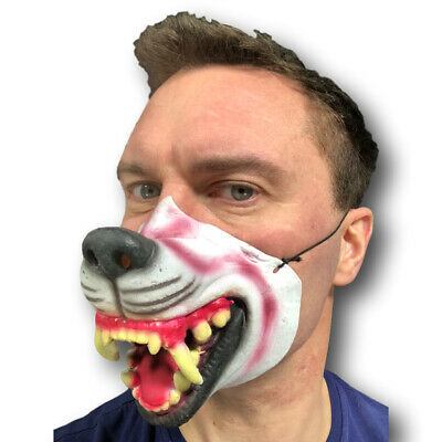 Half Face Comedy Funny People Face Mask Stag Fancy Latex Party Masks Cigar Mouth