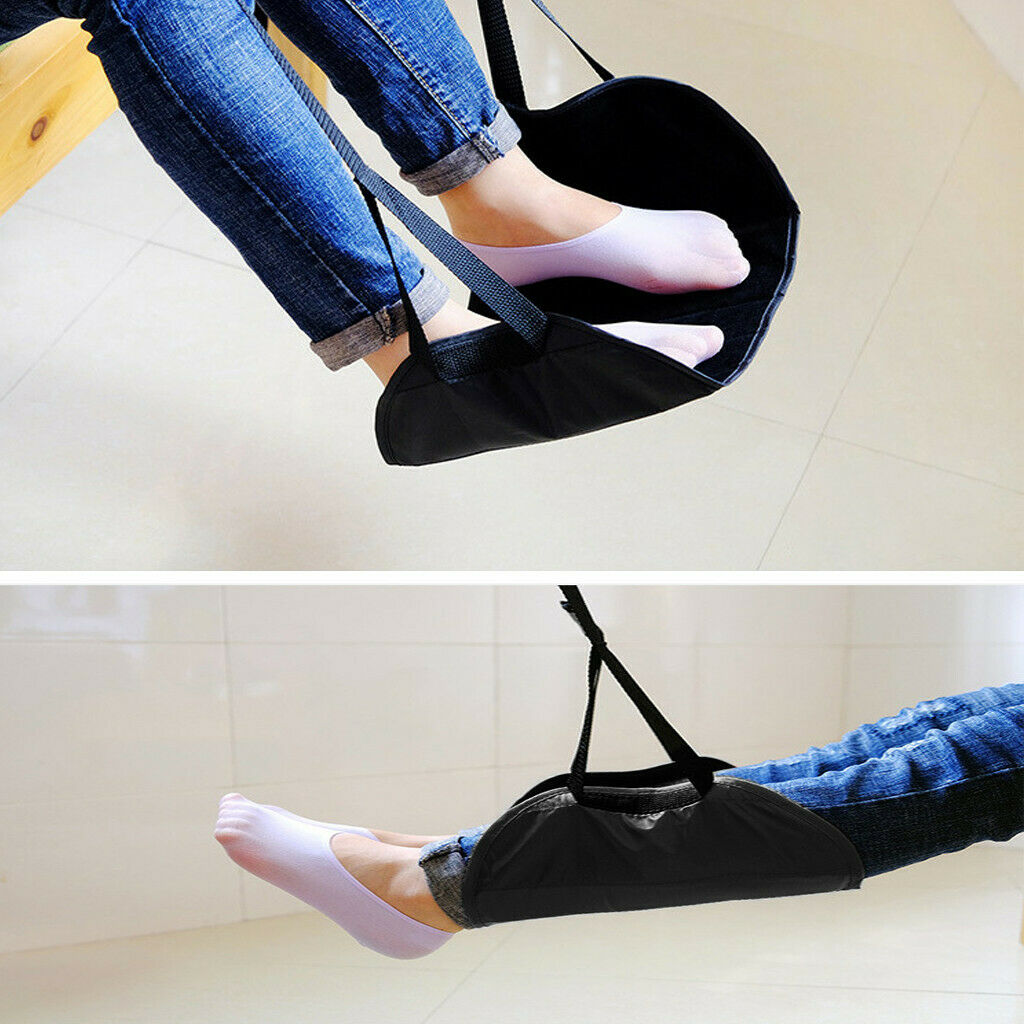 Comfy Hanger Travel Airplane Footrest Hammock Premium Memory Foam Foot Made NEW 4
