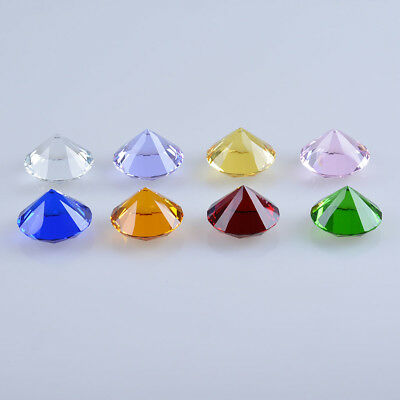 50mm Crystal Paperweight Glass Art Large Giant Diamond Decor Centerpiece Gifts 4