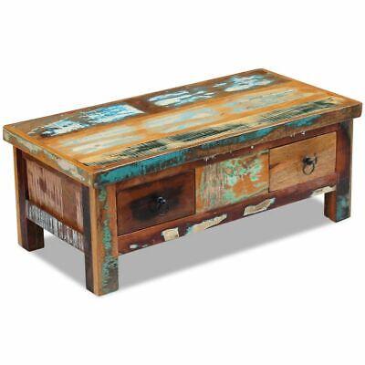 vidaXL Massivholz Couchtisch Beistelltisch Wohnzimmer Sofa Kaffee Tisch Antik 4