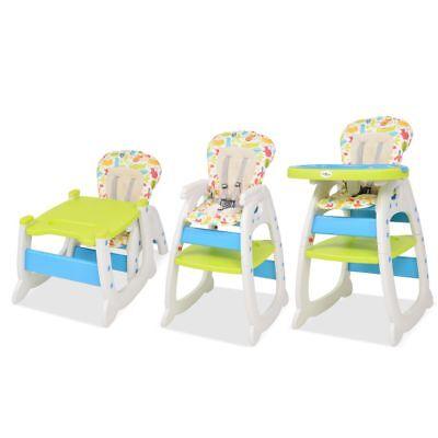 Table Haute 3 Vidaxl Bébé Multicolore Convertible Pour En Chaise Avec 1 N08Oyvmnw