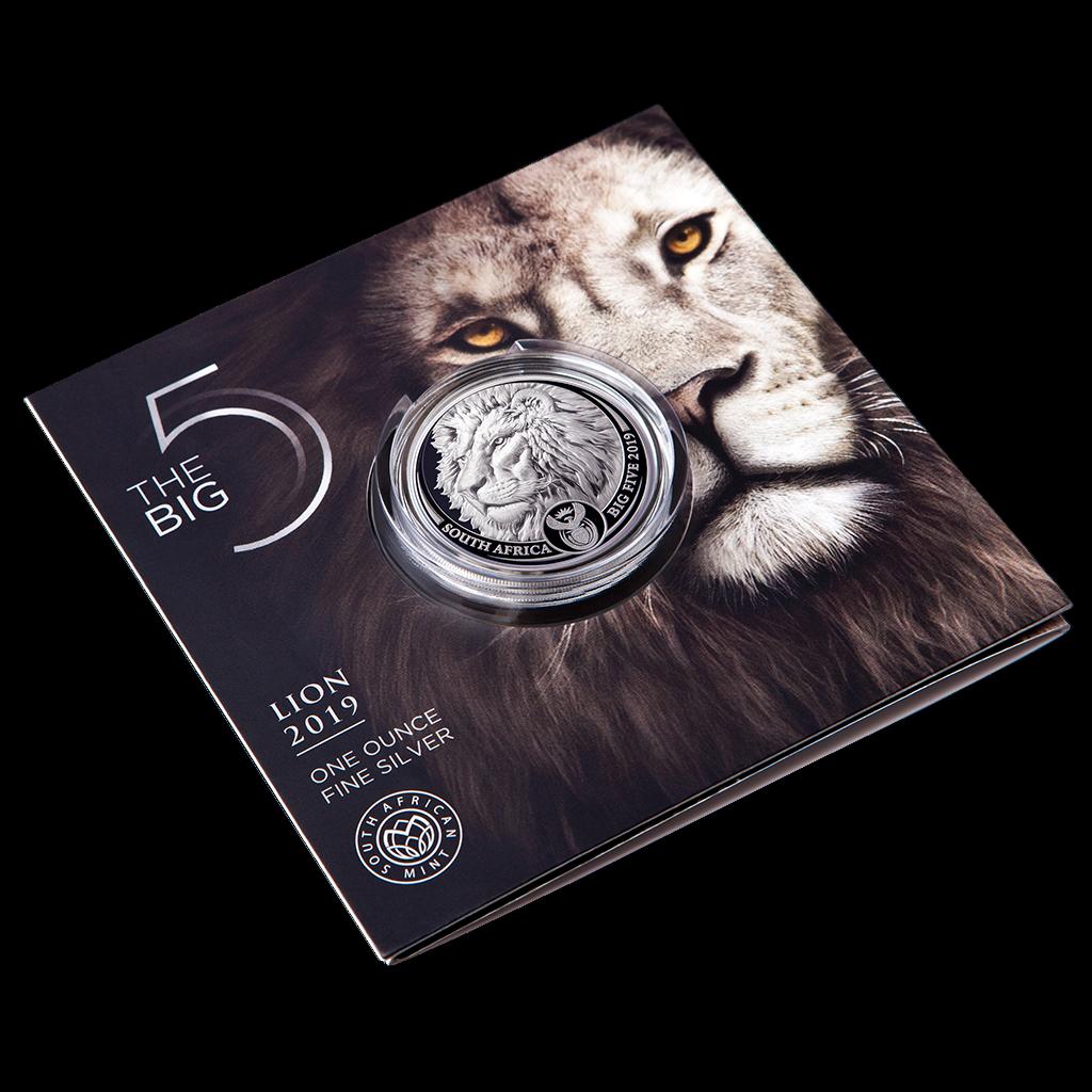 Südafrika - 5 Rand 2019 - Big Five Serie (2.) - Löwe - 1 Oz Silber ST 4
