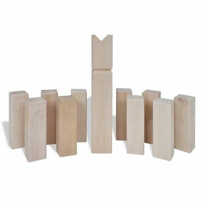 vidaXL Set Juego Tardicional Kubb de Exterior de Madera de Pino de 21 Piezas 3