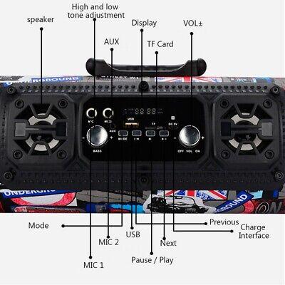 High Bass Ultra Loud Bluetooth Speakers Portable Wireless Speaker Outdoor/Indoor 8
